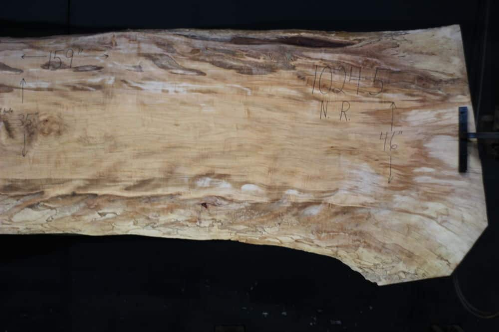 Spalted Maple Slab 1024-5, Narrow Face, Right Side