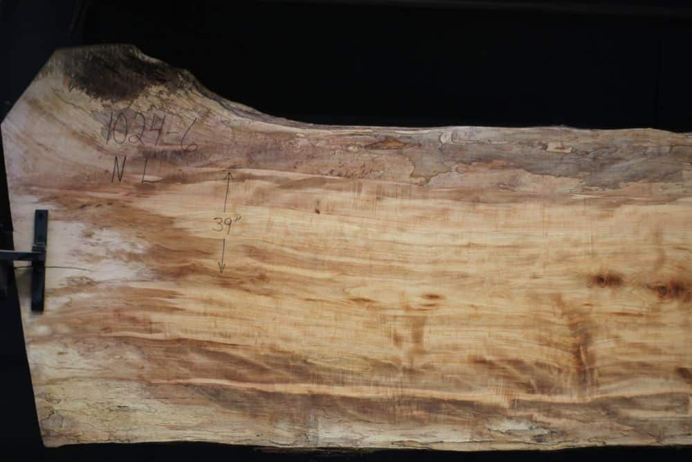 Spalted Maple Slab 1024-6, Narrow Face, Left Side