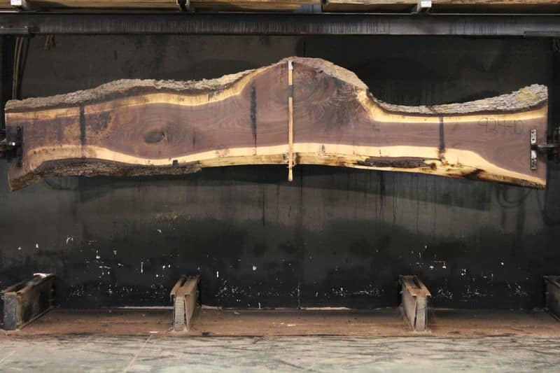 Walnut Slab 924-10,  rough size 2.5″ x 11-27″ avg. 17″ x 12′ $850
