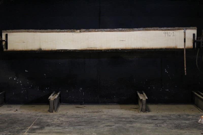 Poplar Slab 996-1, rough size  2″ x 12-14″ avg. 13″ x 12′ $550