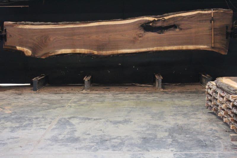 Walnut Slab 811-3 rough size 2.5″ x 24-41″ avg. 31″ x  18′ $1850