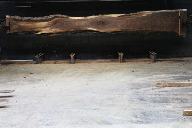 Walnut Slab 861-1  rough size 2.5″ x 13-34″ avg. 20″ x  21′ $1575