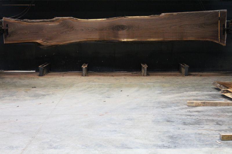 Walnut Slab 861-2  rough size 2.5″ x 22-37″ avg. 22″ x  21′ $2500