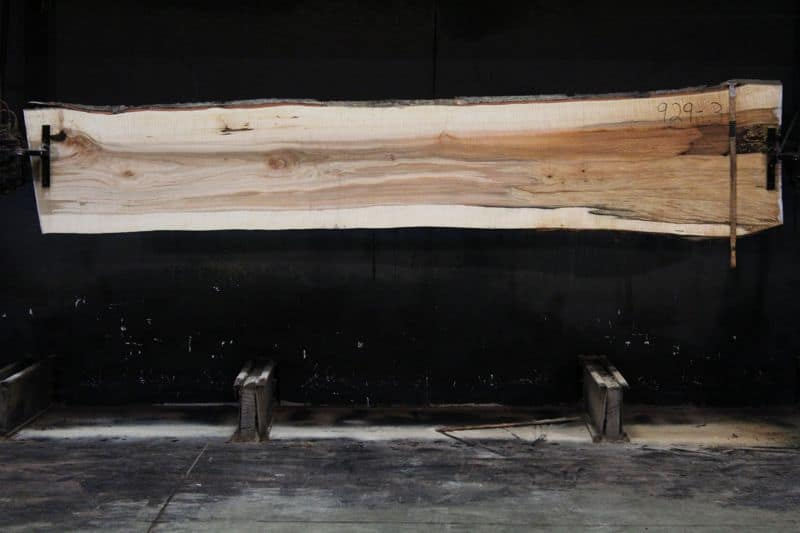 Curly Maple Slab 929-3, rough size 2″ x 23-30″ avg. 25″ x  12′ $900