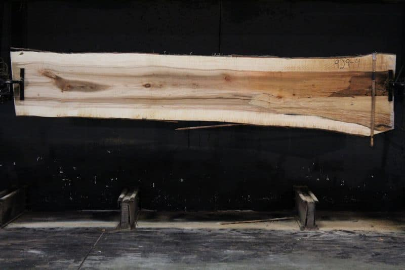 Curly Maple Slab 929-4, rough size 2″ x 24-32″ avg. 26″ x  12′ $950