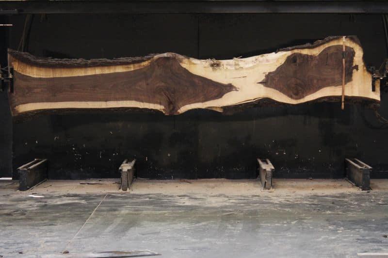 Walnut Slab 915-1, rough size 2.5″ x 16-29″ avg. 20″ x  15′ $1250