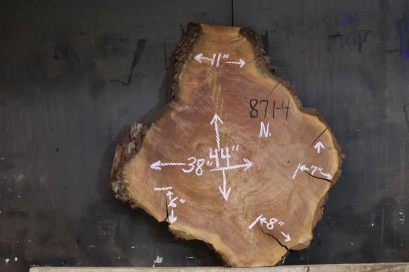 Walnut Round 871-4, 3″ Thick, Kiln Dried, Rough. $750