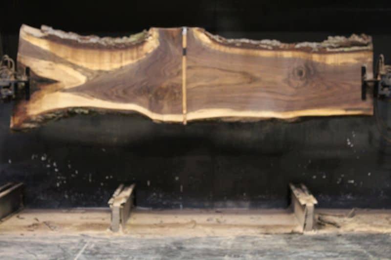 Walnut Slab 965-1, rough size 2.5″ x 21-34″ avg. 24″ x  10′ $750