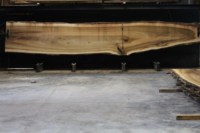 Cottonwood Slab 876-4, rough size 2.5″ x 22-44″ avg. 37″ x 21′ $1200