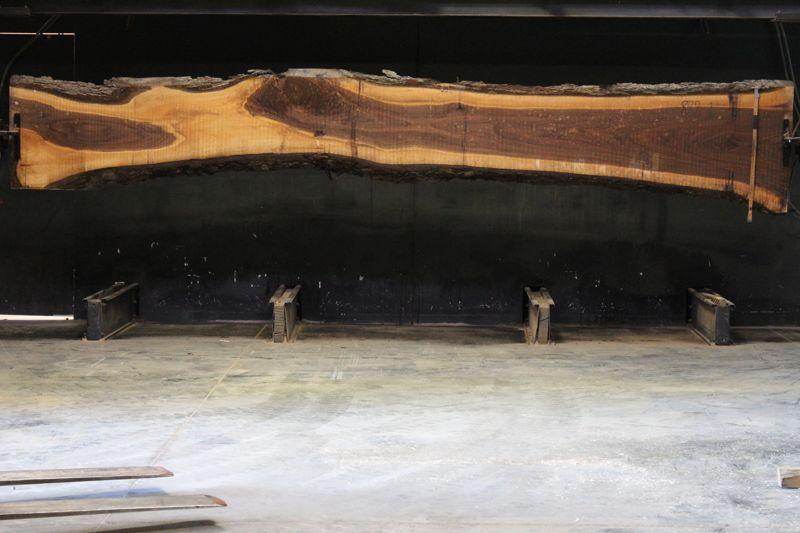 Walnut Slab 888-1, rough size 2.5″ x 16-30″ avg. 20″ x  17′ $1350