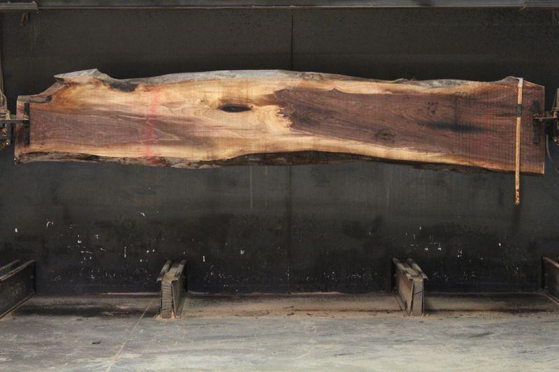Walnut Slab 900-1, rough size 2″ x 14-26″ avg. 21″ x  12′ $750