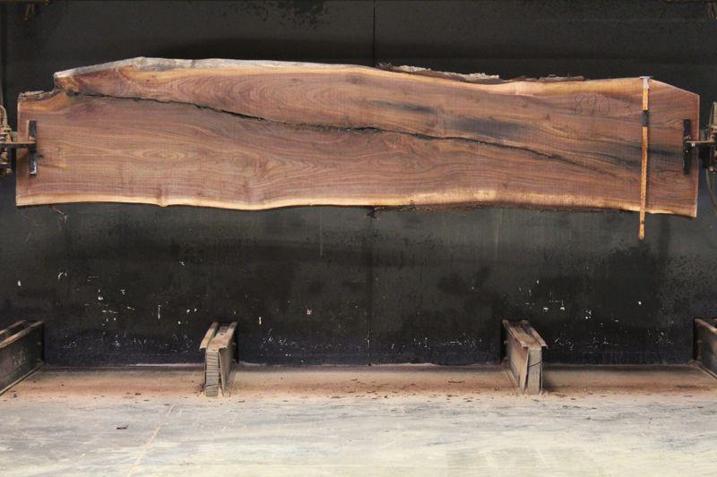 Walnut Slab 900-3, rough size 2″ x 23-31″ avg. 28″ x  12′ $950