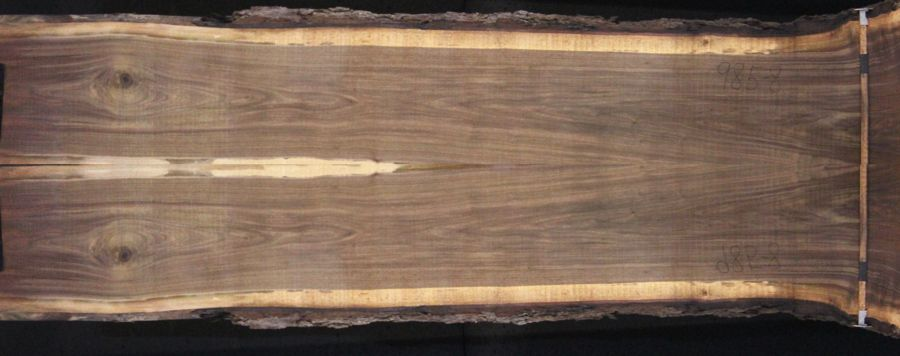 walnut 985-8&9 simulation, approx. size 2″ x 40″ x 12′ Both Rough Slabs $2300