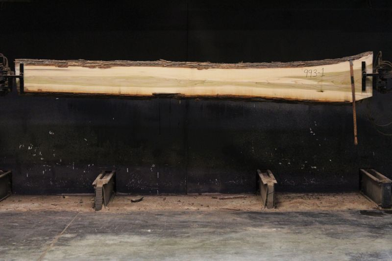 Kiln Dried Poplar Slab 993-1, rough size 2″ x 9-16″ avg. 10″ x 12′ $500