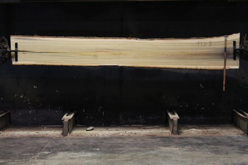 Kiln Dried Poplar Slab 993-3, rough size 2″ x 17-21″ avg. 17″ x 12′ $550