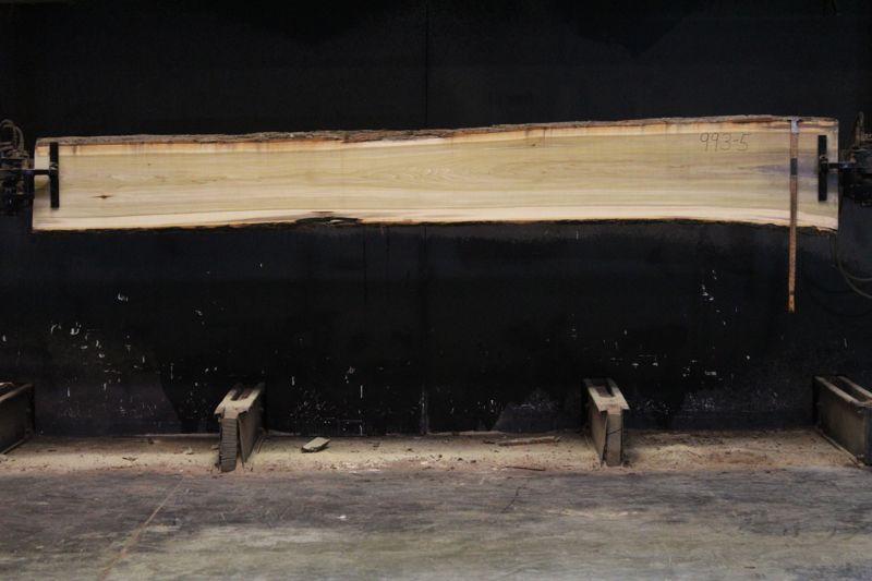 Kiln Dried Poplar Slab 993-5, rough size 2″ x 14-19″ avg. 15″ x 12′ $500