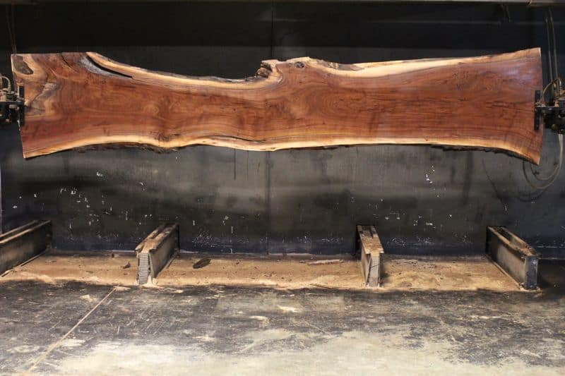 kiln dried, surfaced walnut slab 831-7 narrow face