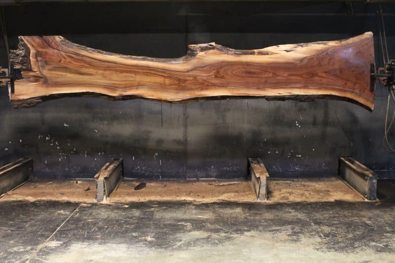 surfaced walnut slab 831-8 narrow face