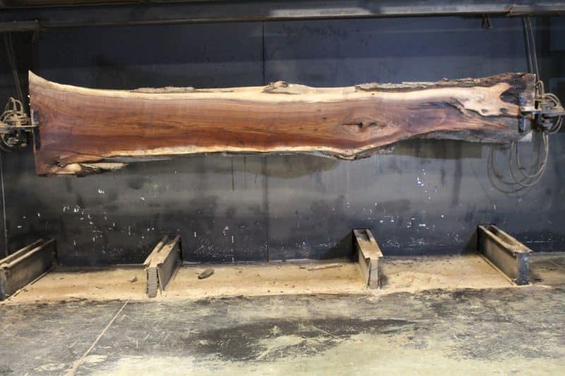 surfaced walnut slab 831-1 narrow face