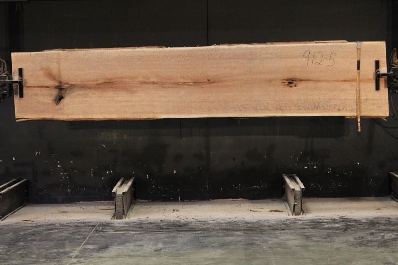 Figured Red Oak Slab 912-5 rough size 2″ x 26-29″ avg. 28″ x 12′  $950