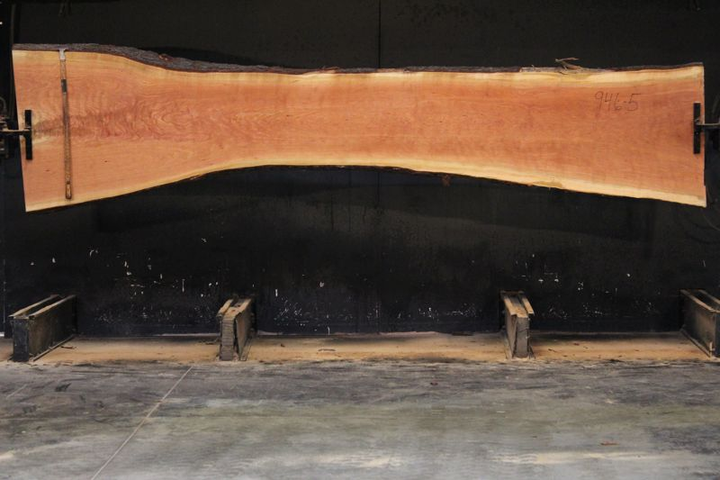 cherry slab 946-5 rough size 2.5″ x 22-38″ avg. 26″ x 13′