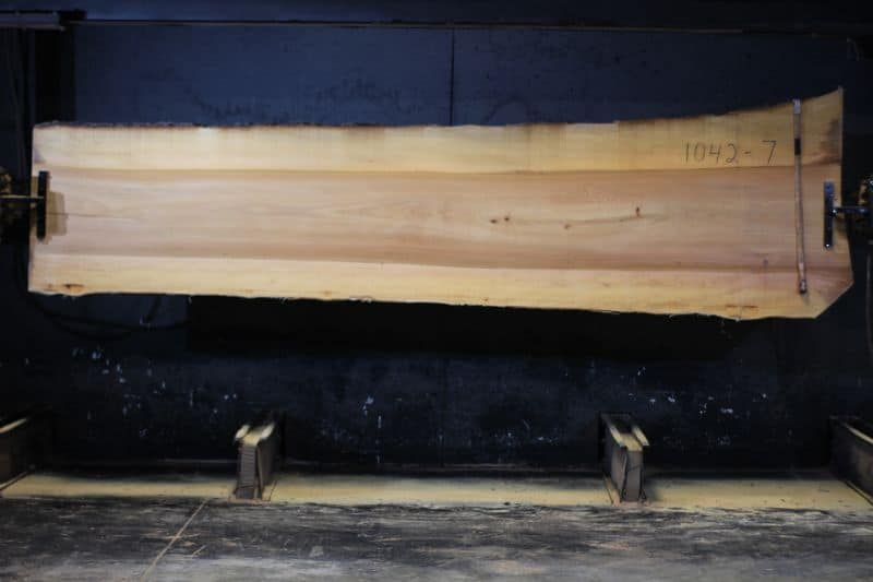 Sycamore Slab 1042-7 rough size 2″ x 31-40″ avg. 33″ x 12′  $800