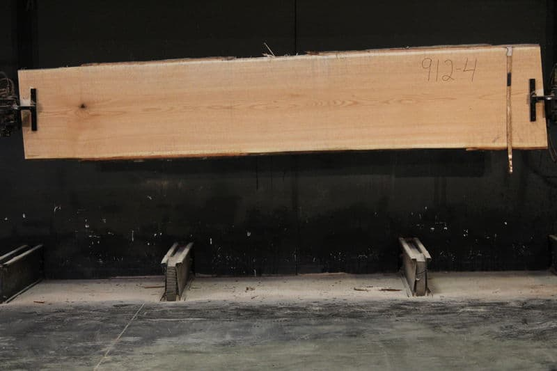 Red Oak Slab 912-4   rough size 2″ x 25-28″ avg. 26″ x 12′  $850