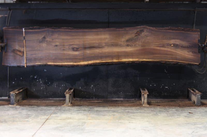 walnut slab 1003-2 rough size 2.5″ x 28-33″ avg. 29″ x 14′