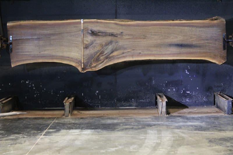 walnut slab 983-6 rough size 2.5″ x 28-39″ avg. 29″ x 13′