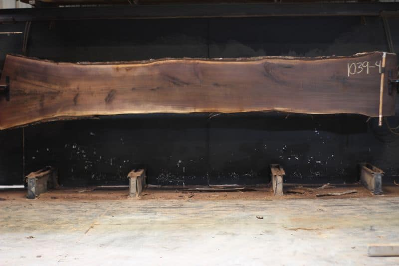 Walnut Slab 1039-4, rough size 2.5″ x 24-33″ avg. 26″ x 15′ $1700